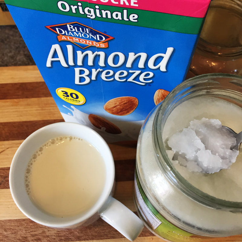 almond milk and coconut oil for turmeric milk