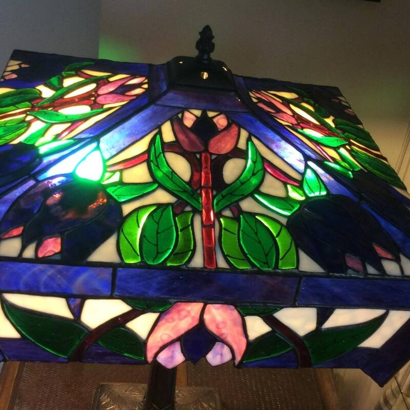 Stained Glass Lamp shade by Norma Jean McCallan
