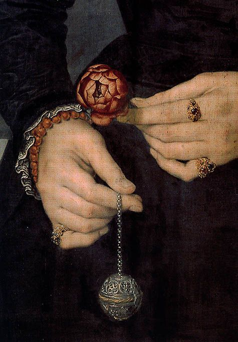 Detail of a pomander from an unknown painting