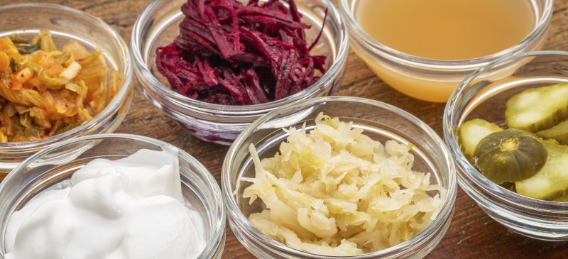 Probiotic rich fermented foods